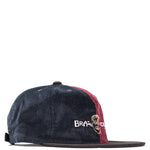 Brain Dead Colour Blocked Strapback Cap Navy / Maroon - Deadstock.ca