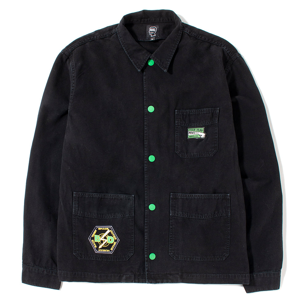 Brain Dead x Livestock Inner Space - Outer Space Chore Coat / Washed Black - Deadstock.ca
