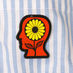 Brain Dead Sunflower Paneled Oxford Button Up / Multi