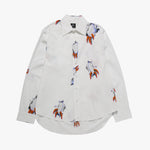 Brain Dead Claw Button Up / White