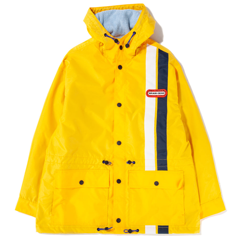Style code BDFA1801.  Brain Dead Hooded Racing Jacket / Yellow