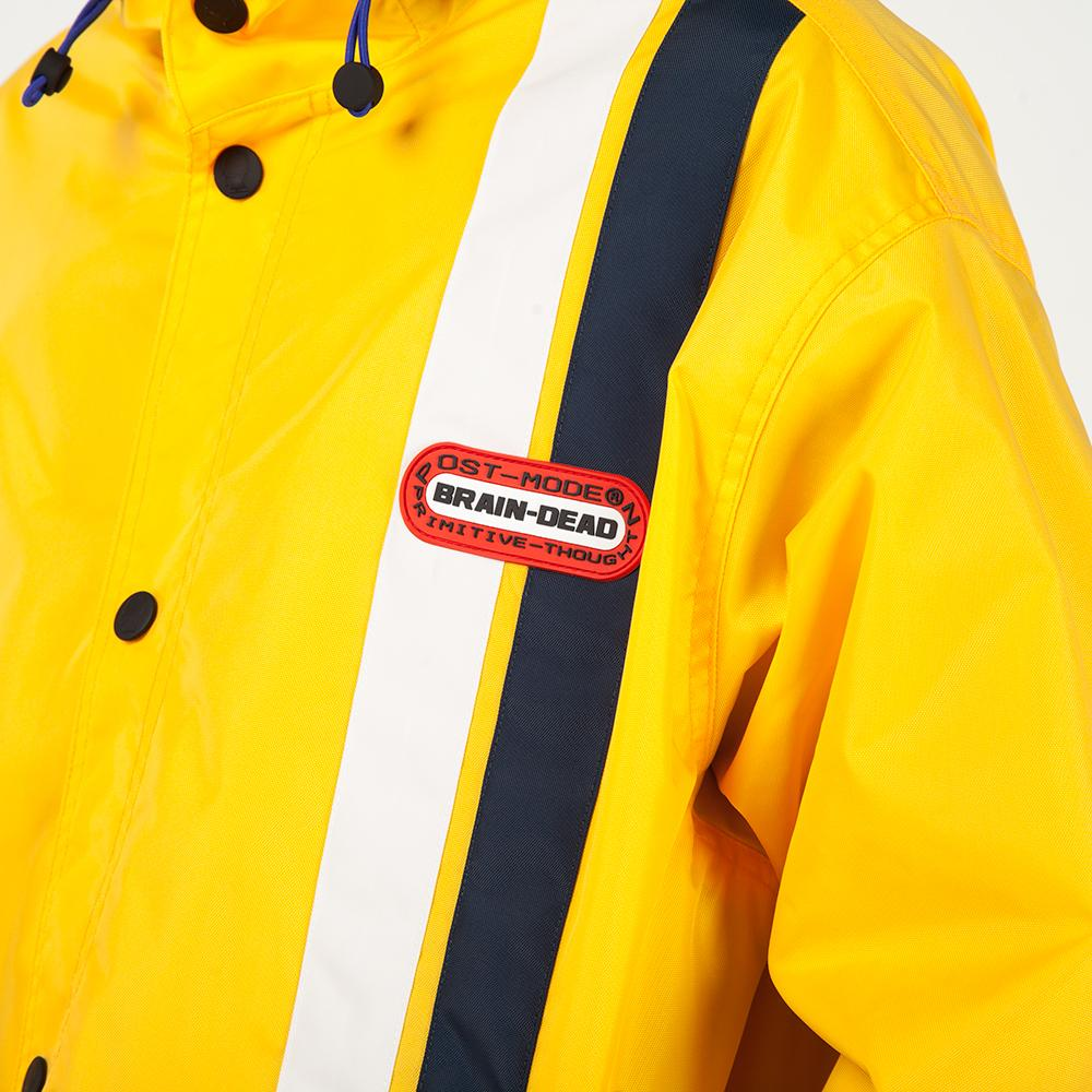 Brain Dead Hooded Racing Jacket / Yellow