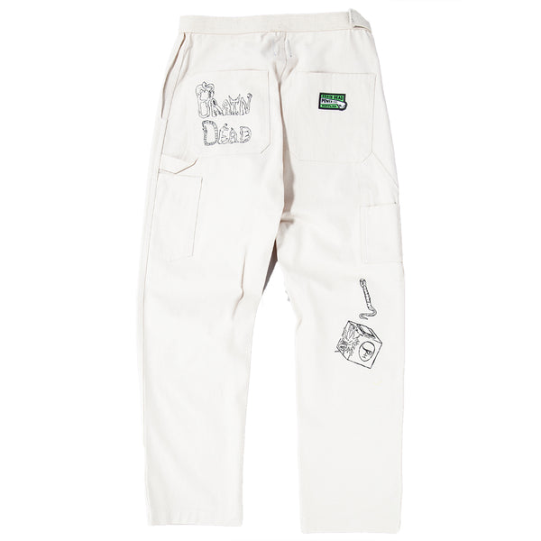 Style code BDFA1805. Brain Dead Matt Locke Carpenter Pant / Natural Canvas