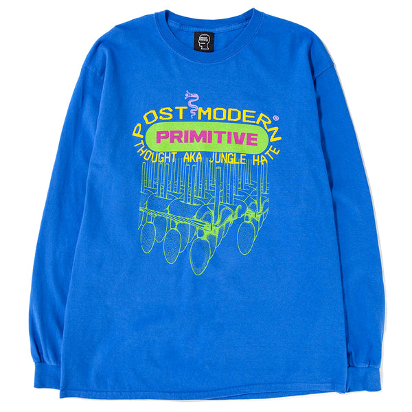 Style code BDFA1811. Brain Dead Primitive Long Sleeve T-shirt / Royal Blue