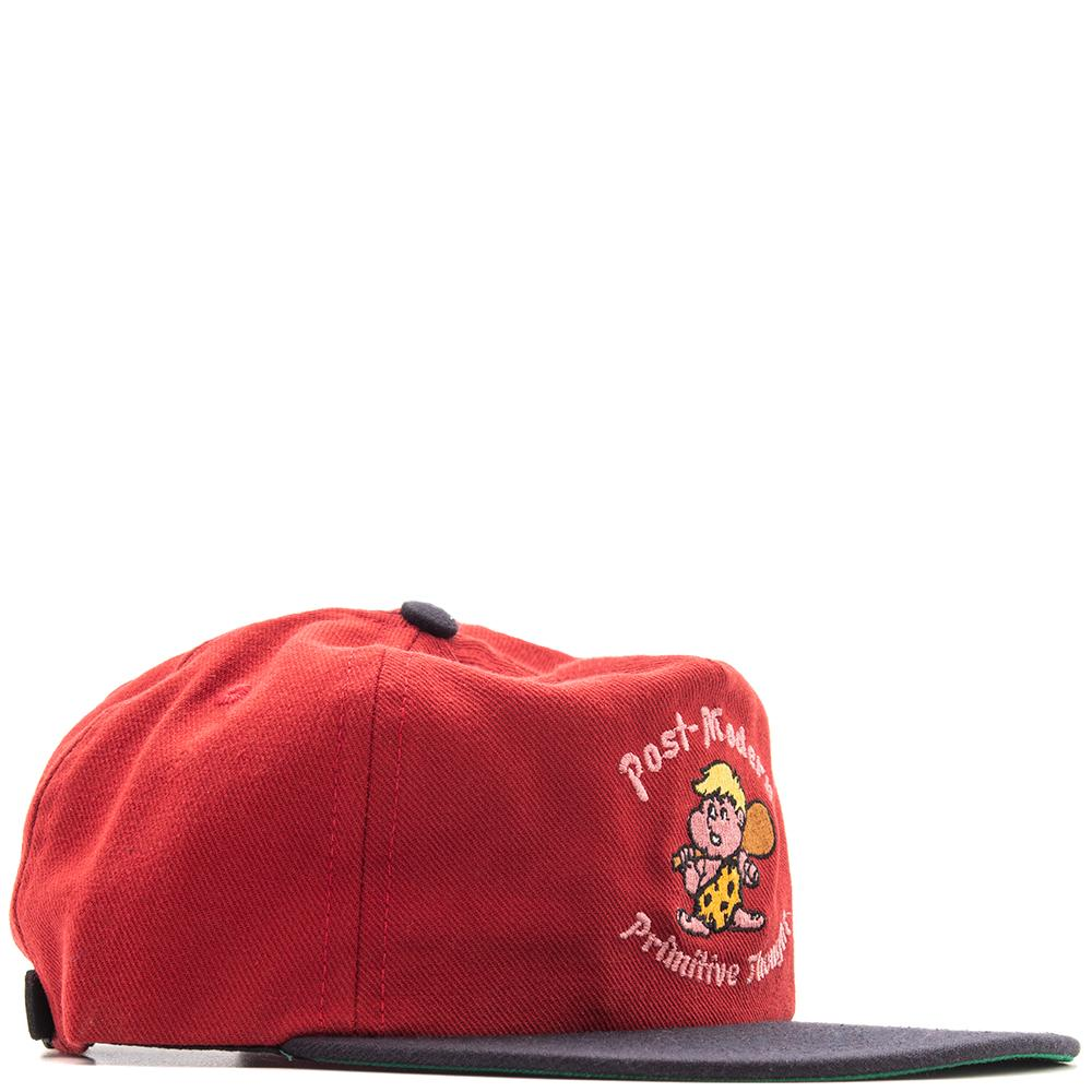 Style code BDFA1814. Brain Dead Cave Man Five Panel Red / Navy