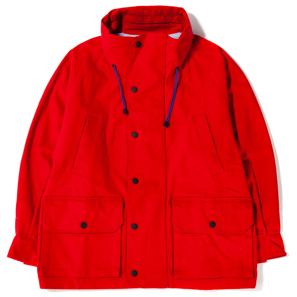 Style code BDHO1801. Brain Dead Repellant Parka / Red