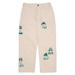 Brain Dead Mushroom Embroidered Herringbone Military Pant / Natural