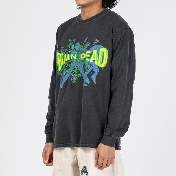 Brain Dead Blammin' Long Sleeve T-shirt / Navy