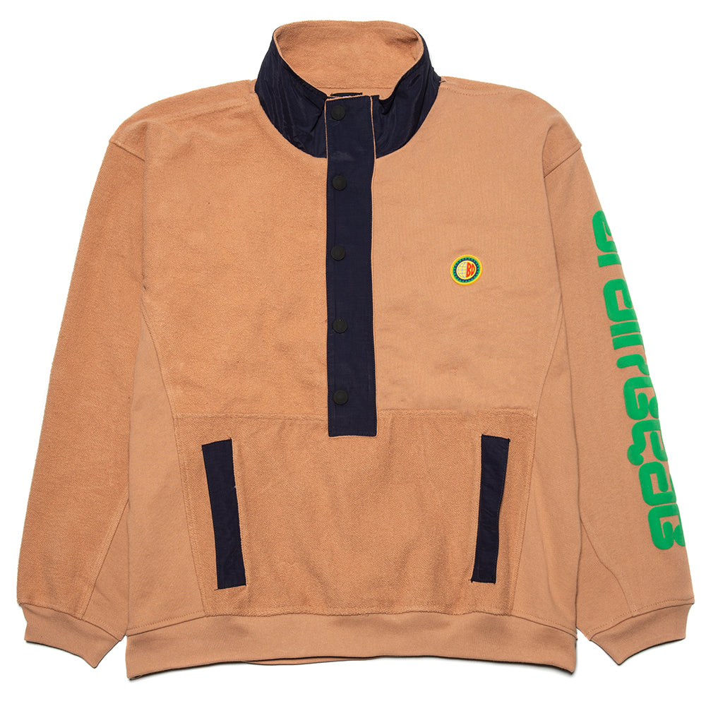 Brain Dead Global Works Snap Mock Neck Pullover / Brown