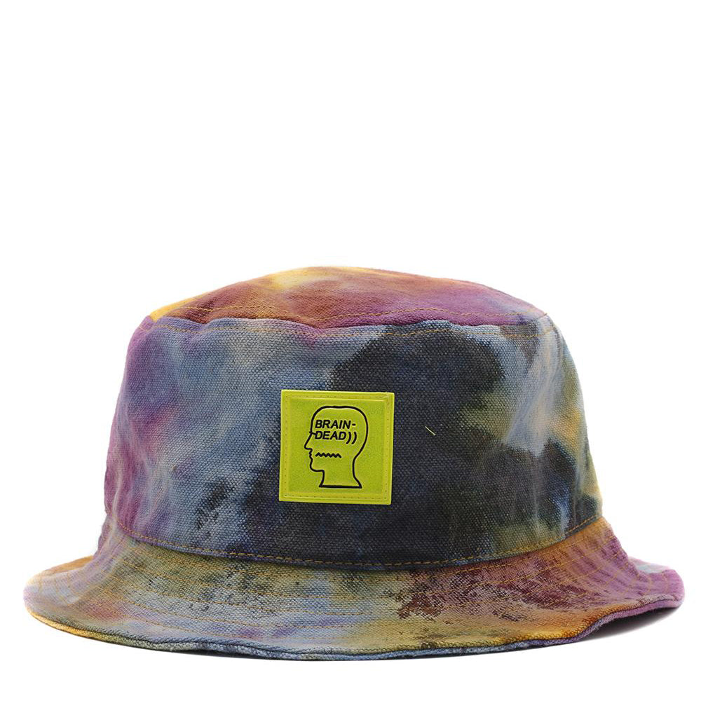 Brain Dead Dyed Canvas Bucket Hat / Tie Dye