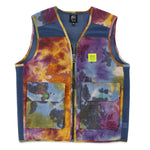 Brain Dead Dyed Canvas Spacer Mesh Tactical Vest / Tie Dye