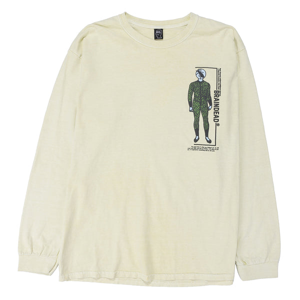Brain Dead Evaluate Long Sleeve T-shirt / Lemon