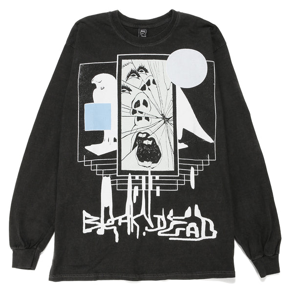 Brain Dead Shriek of the Falcon Long Sleeve T-shirt / Washed Black