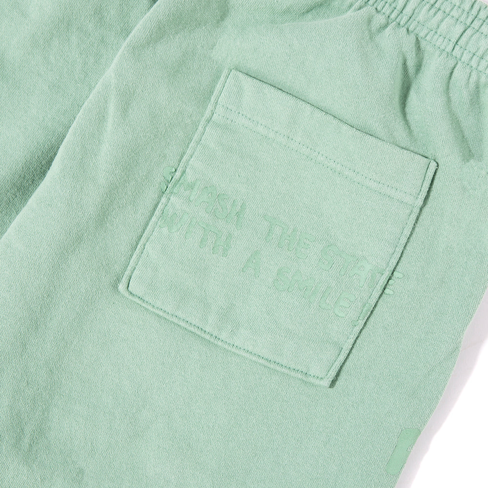 Brain Dead Tonal Type Print Sweatpant / Putty Green