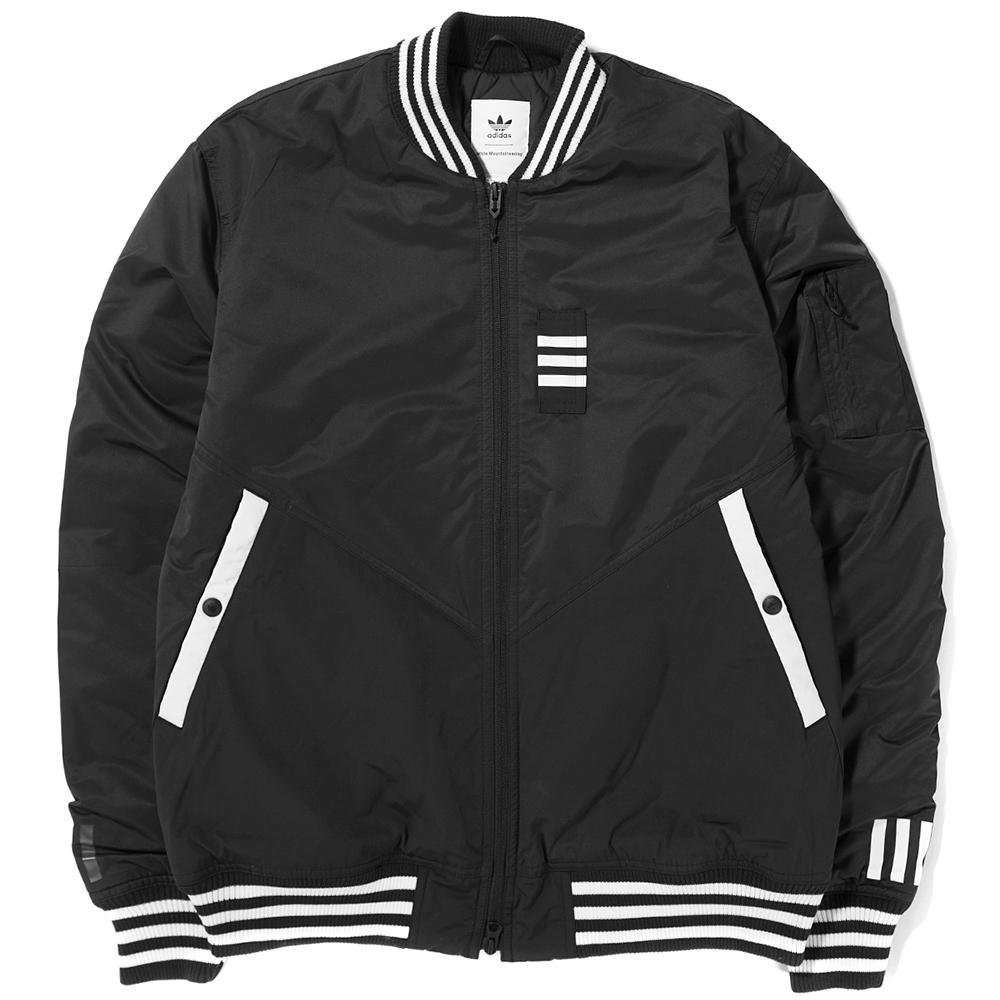 style code BQ4077. ADIDAS ORIGINALS BY WHITE MOUNTAINEERING FLIGHT JACKET / BLACK