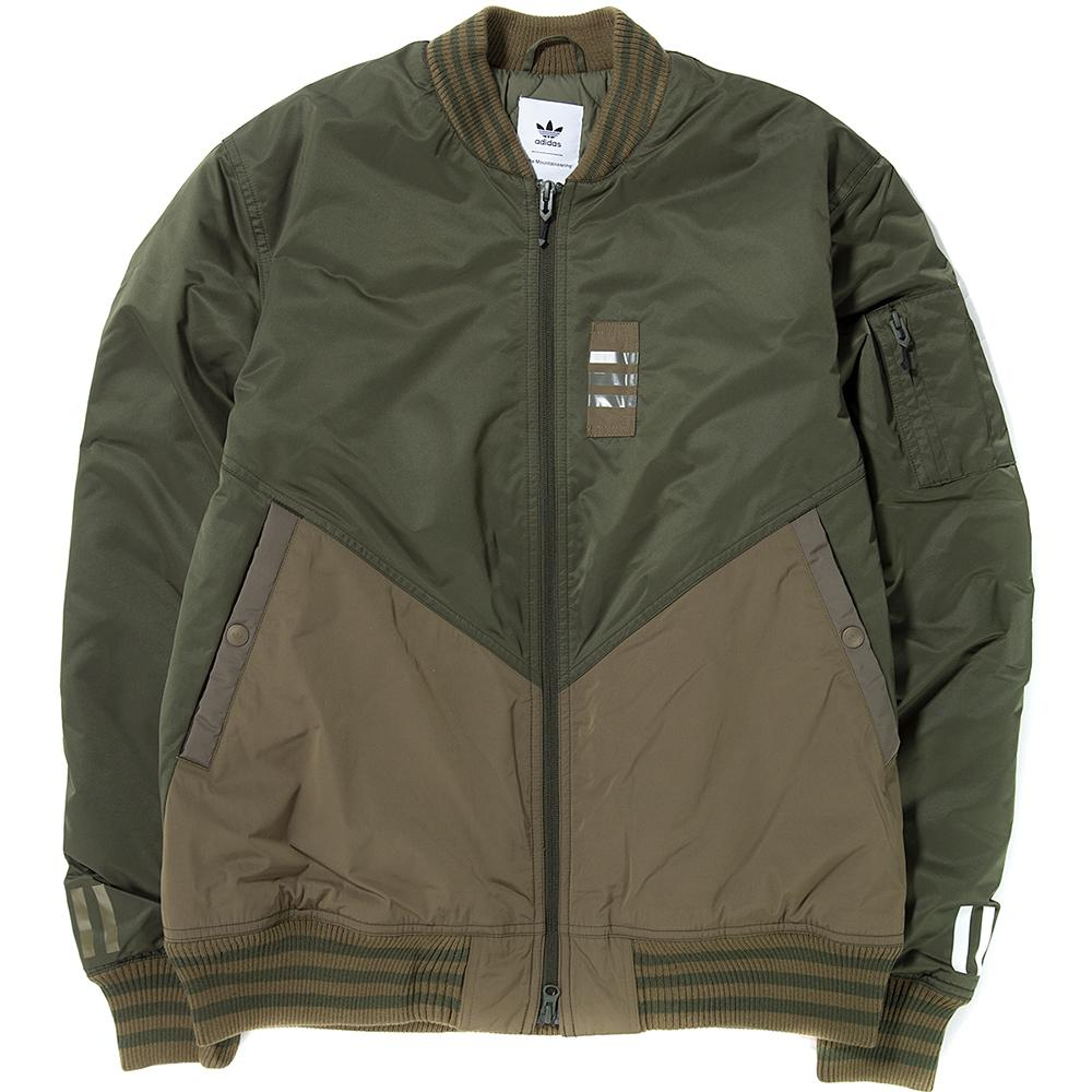 style code BQ4080. ADIDAS ORIGINALS BY WHITE MOUNTAINEERING FLIGHT JACKET / NIGHT CARGO