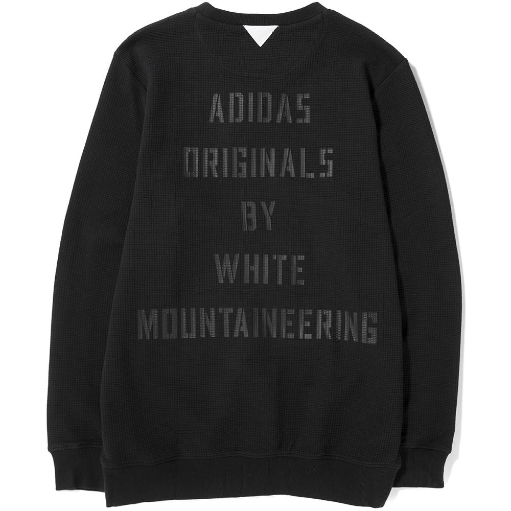 style code BQ4110. ADIDAS ORIGINALS BY WHITE MOUNTAINEERING CREW SWEAT / BLACK