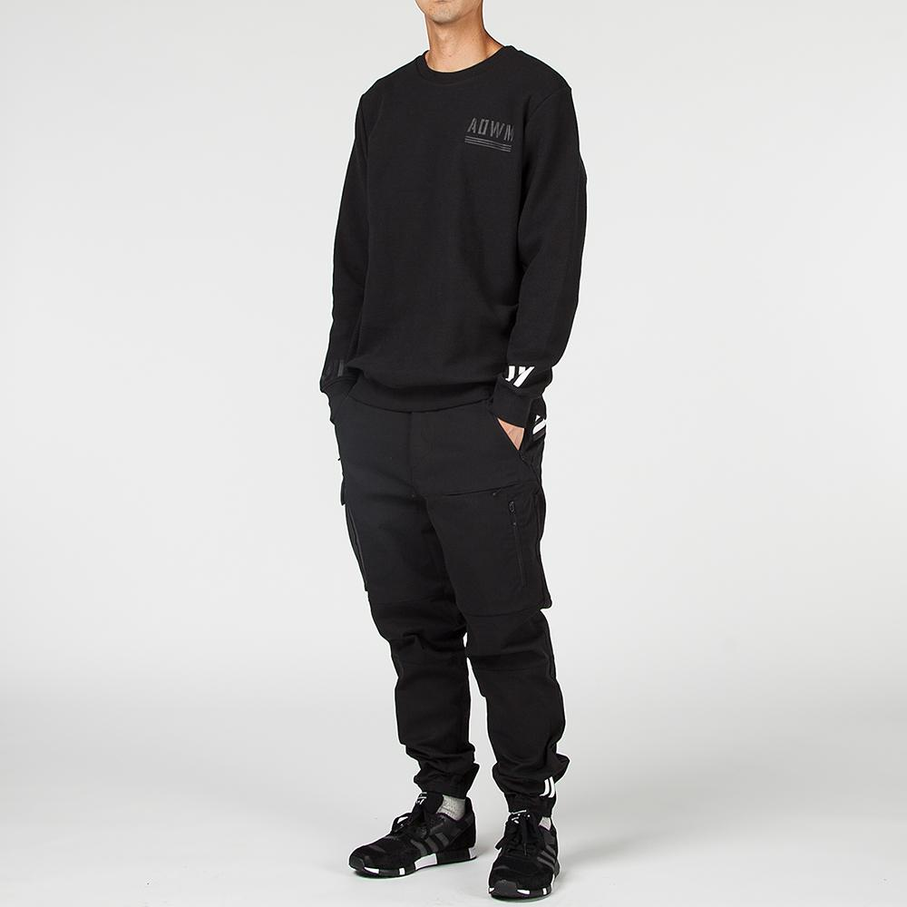 ADIDAS ORIGINALS BY WHITE MOUNTAINEERING CREW SWEAT / BLACK