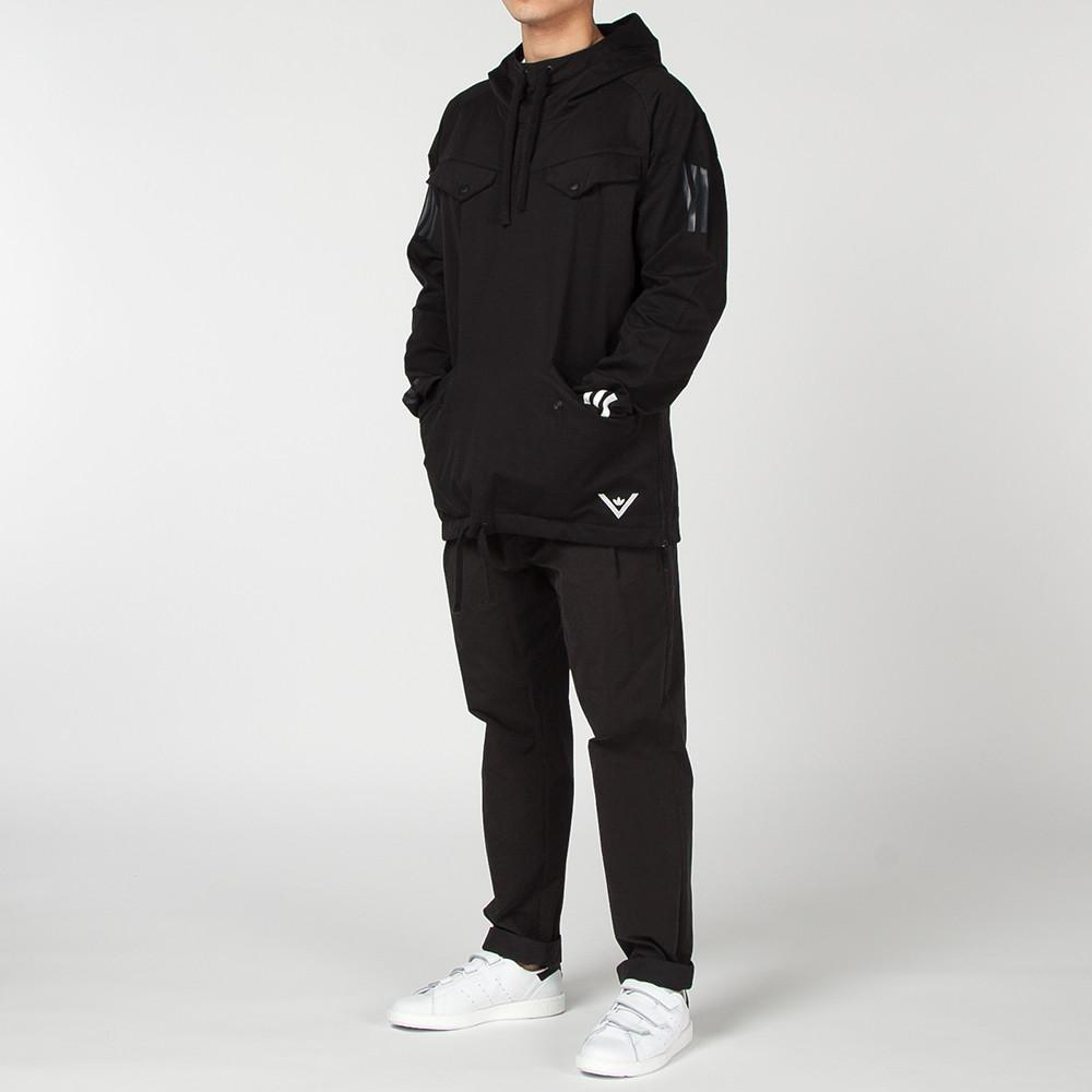 ADIDAS ORIGINALS BY WHITE MOUNTAINEERING PULLOVER JACKET / BLACK