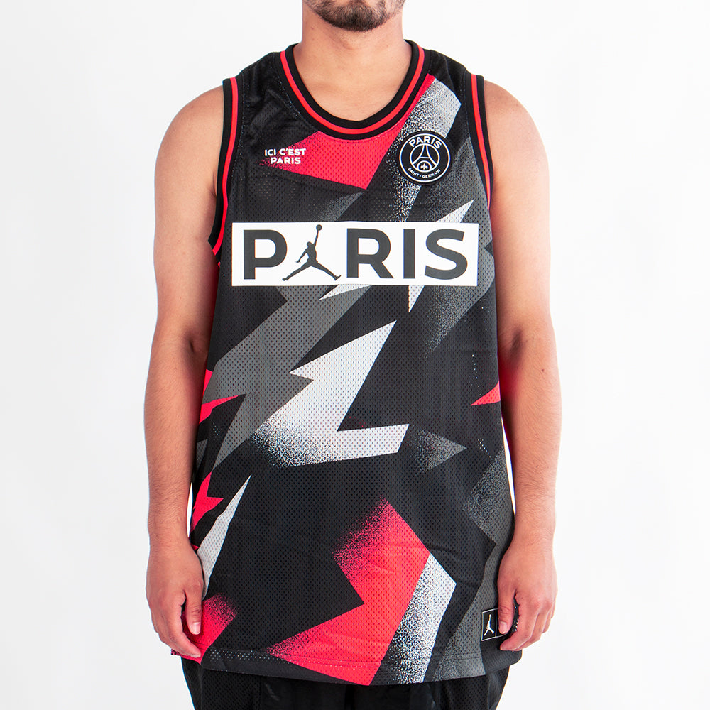 Jordan x Paris Saint Germain Mesh Jersey Black