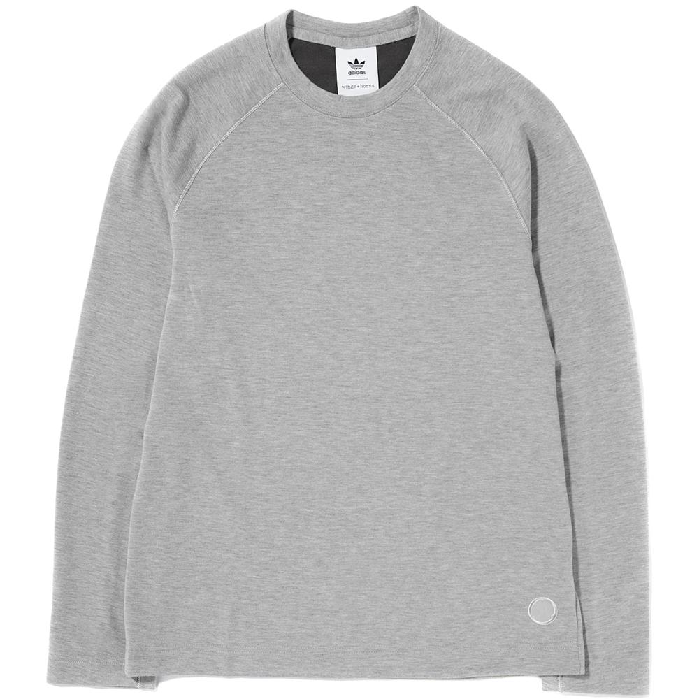 Style code BR0159. ADIDAS BY WINGS + HORNS LONG SLEEVE T-SHIRT / SESAME
