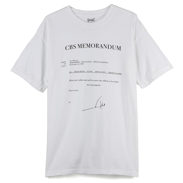 Book Works Fax T-shirt / White