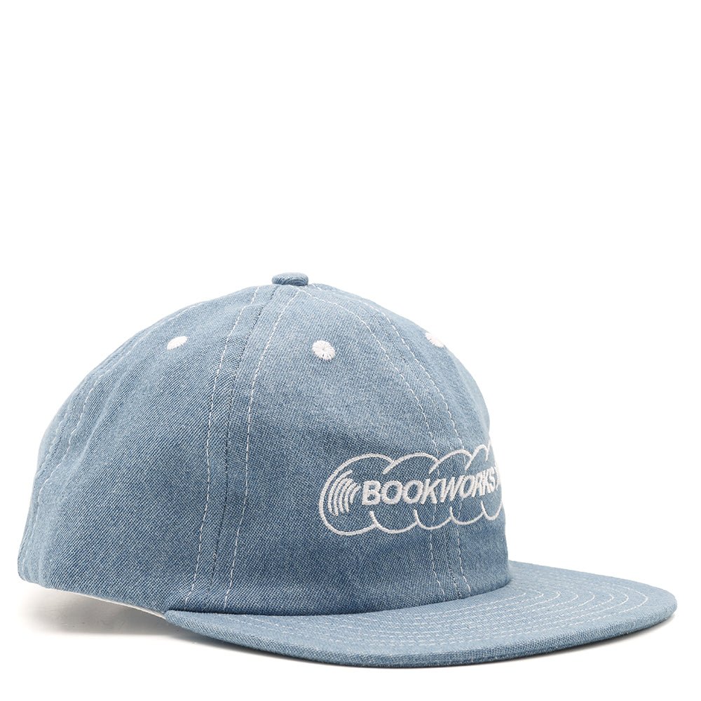 Book Works BW Record Logo Hat / Lt Denim
