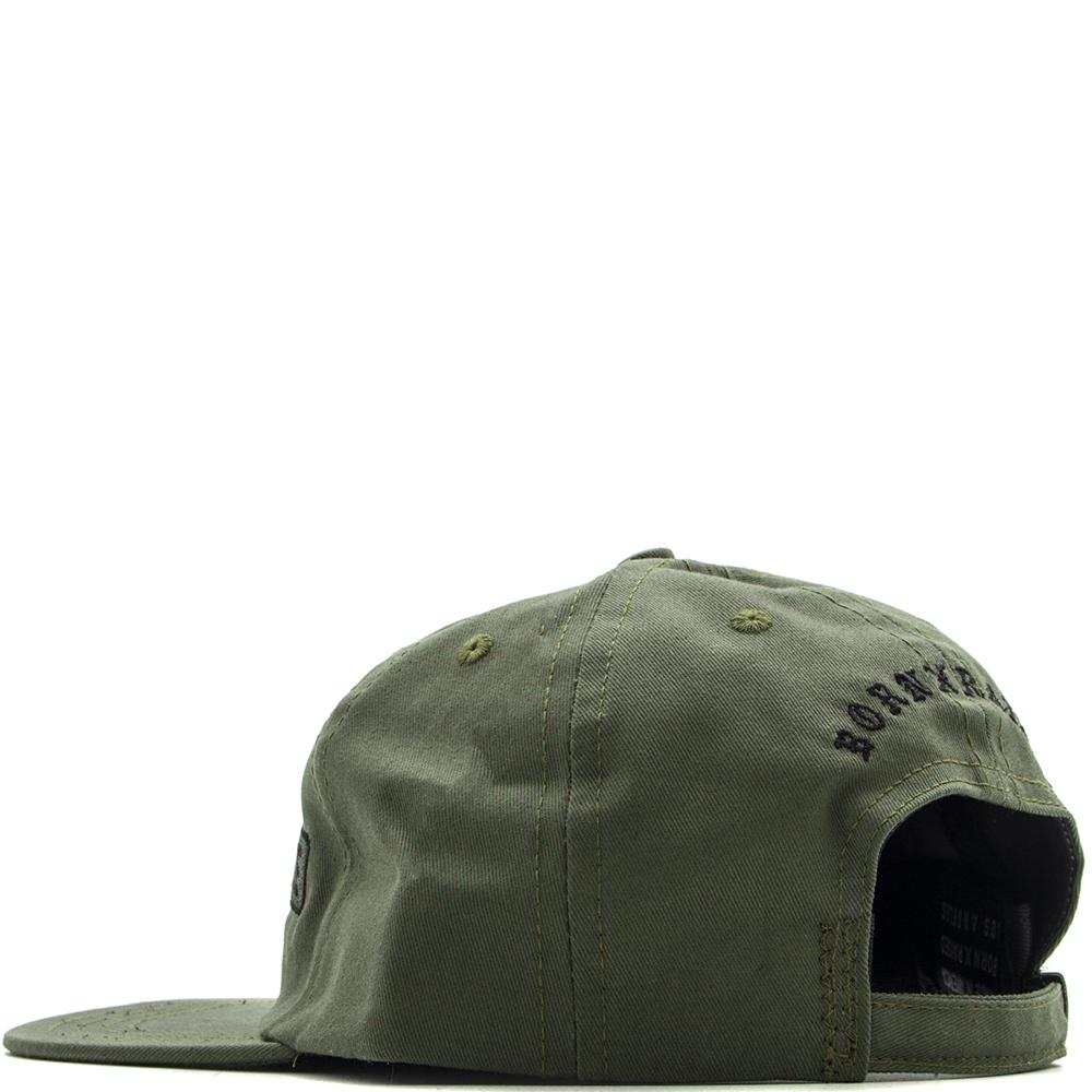 Style code BXRFA17KMIL. BORN X RAISED FUCK EVERYONE STRAPBACK HAT / MILITARY