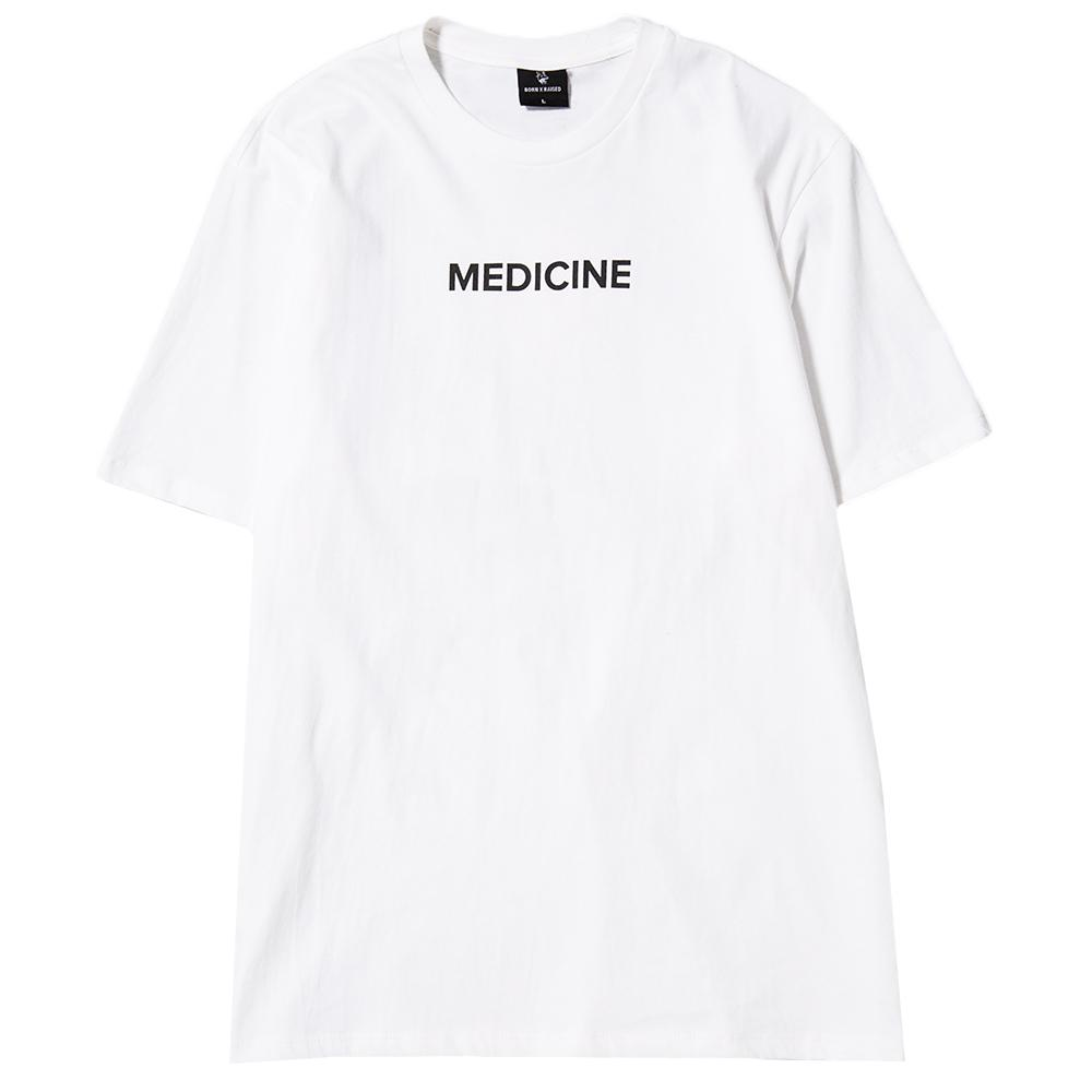 Style code BXRFA17OWHT. BORN X RAISED MEDICINE T-SHIRT / WHITE