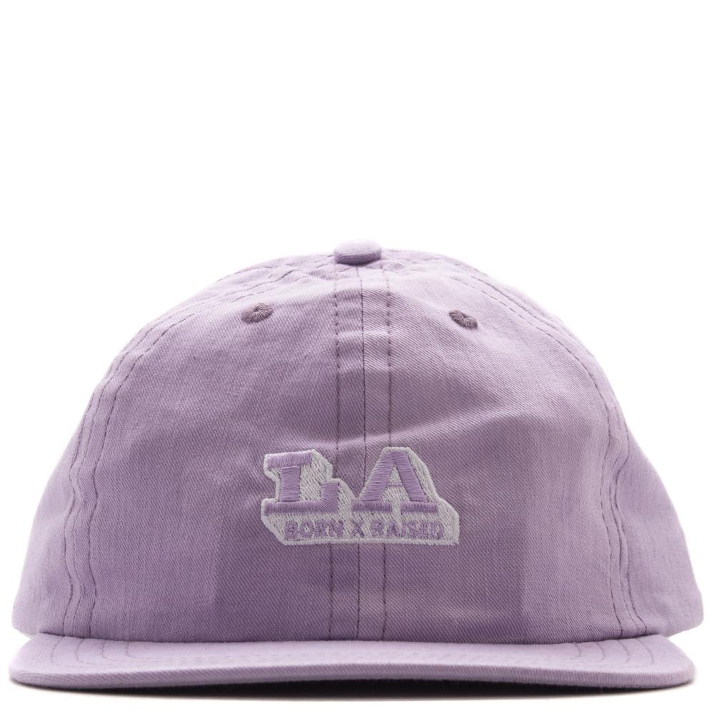 Style code BXRSP1810. BORN X RAISED LOS ANGELES EXPRESS STRAPBACK / LAVENDER
