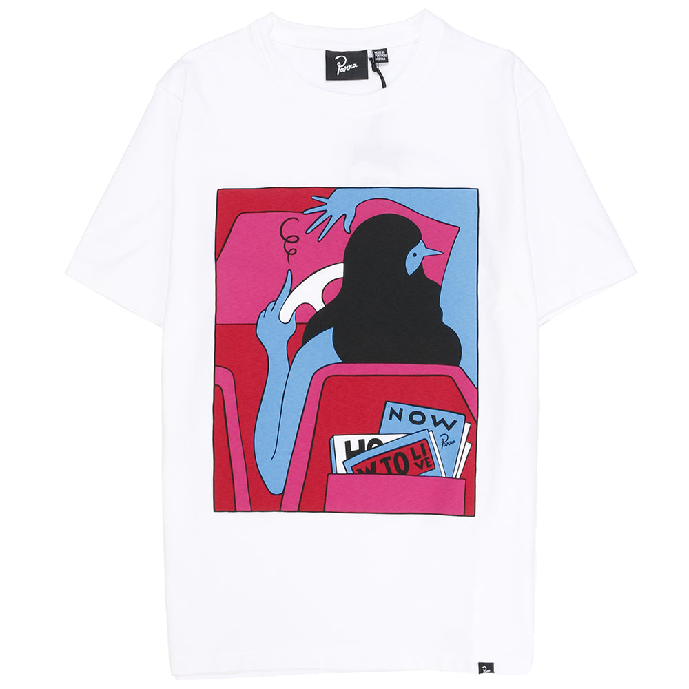 by Parra How To Live Now T-shirt / White