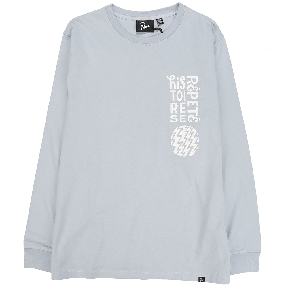 by Parra Histoire Long Sleeve T-shirt / Dusty Blue