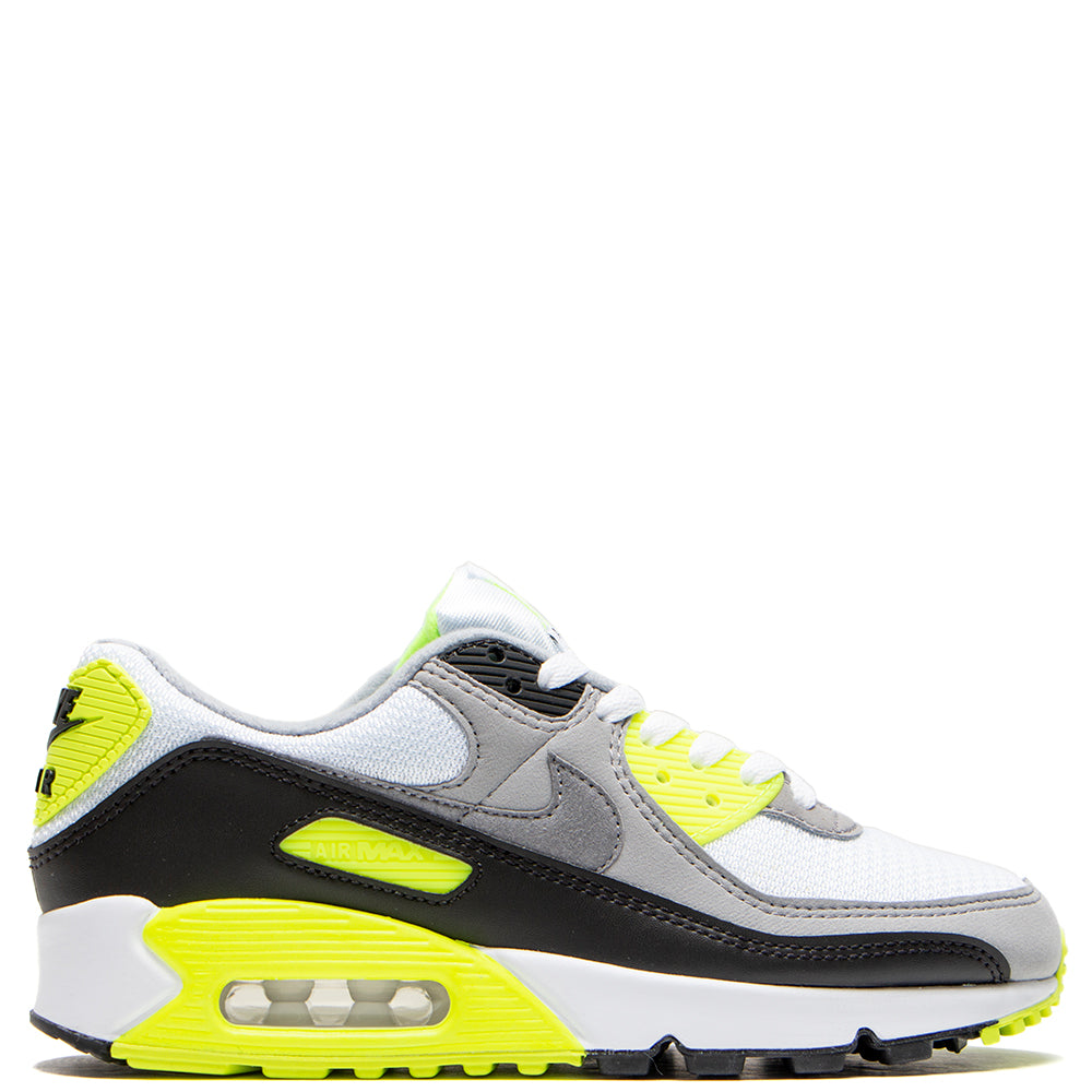 Nike Women's Air Max 90 White / Particle Grey - Volt
