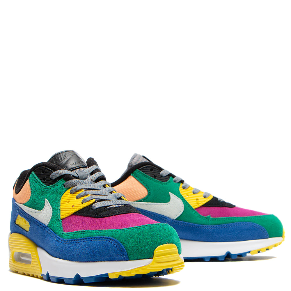 Fashionable Mens Nike Air Max 90 Hyperfuse White Grey Yellow Athletic Shoes Cheap To Buy S8RxM