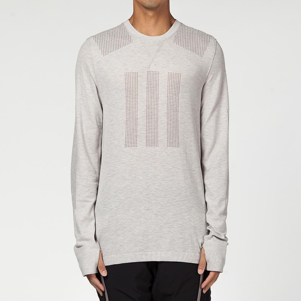 ADIDAS DAY ONE BASE LAYER LONG SLEEVE T-SHIRT / CLEAR GRANITE
