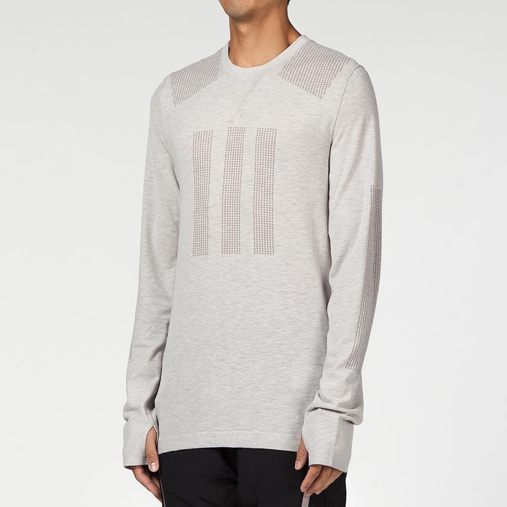 Style code CD5099. ADIDAS DAY ONE BASE LAYER LONG SLEEVE T-SHIRT / CLEAR GRANITE