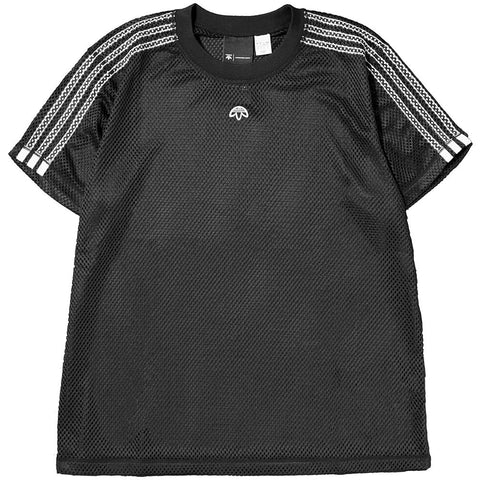 style code CG2006. ADIDAS ORIGINALS BY ALEXANDER WANG MESH T-SHIRT / BLACK