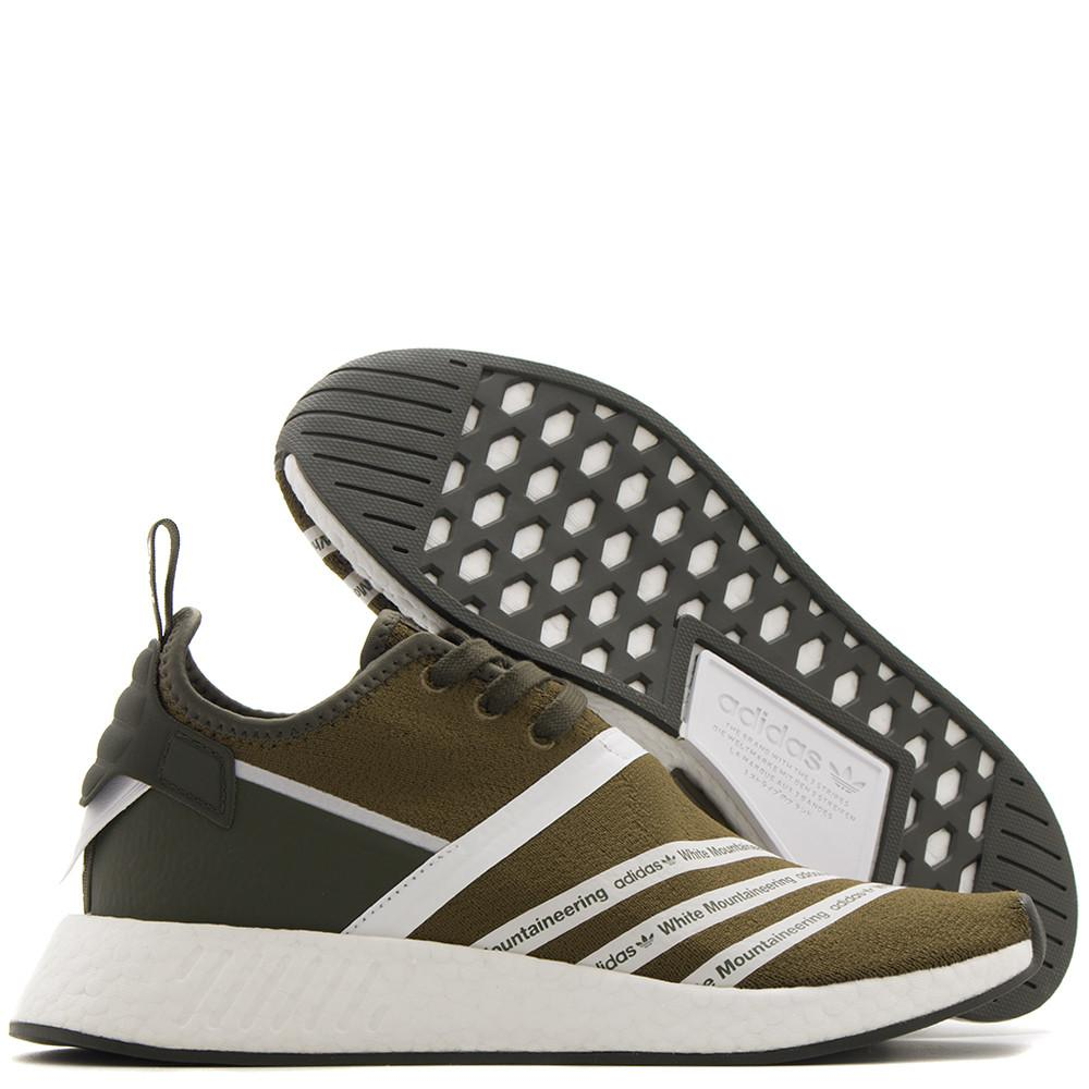 ADIDAS ORIGINALS BY WHITE MOUNTAINEERING NMD R2 PRIMEKNIT / TRACE OLIVE