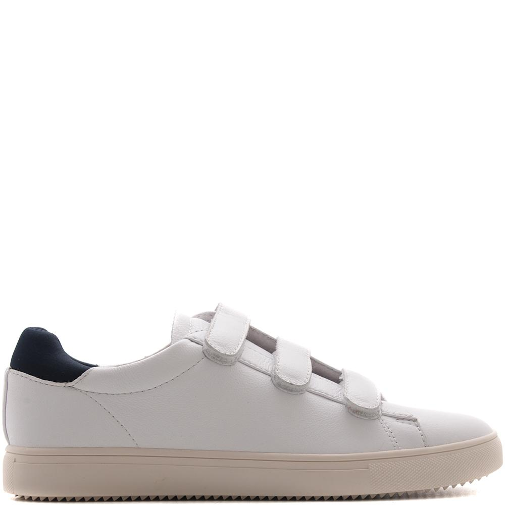 Clae Bradley Velcro / White Milled Tumbled Leather