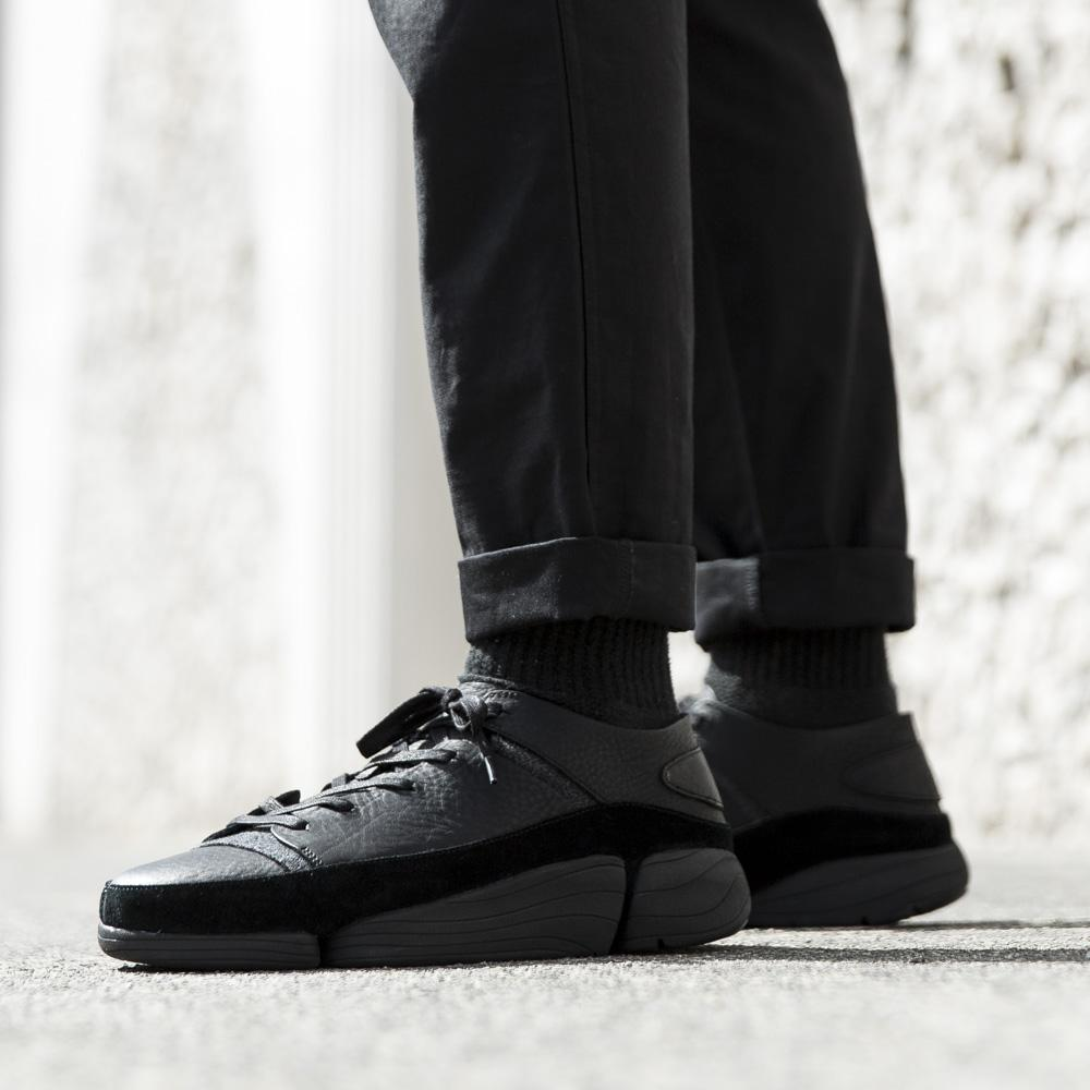 CLARKS ORIGINALS TRIGENIC EVO / BLACK LEATHER
