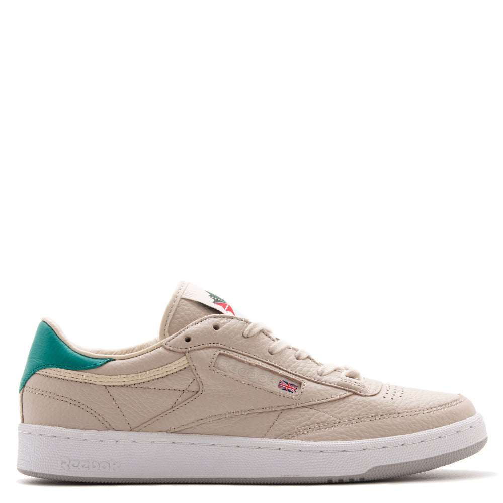 Style code CN1284. Reebok Certified Network x Packer Club C 85 Stucco / Paperwhite