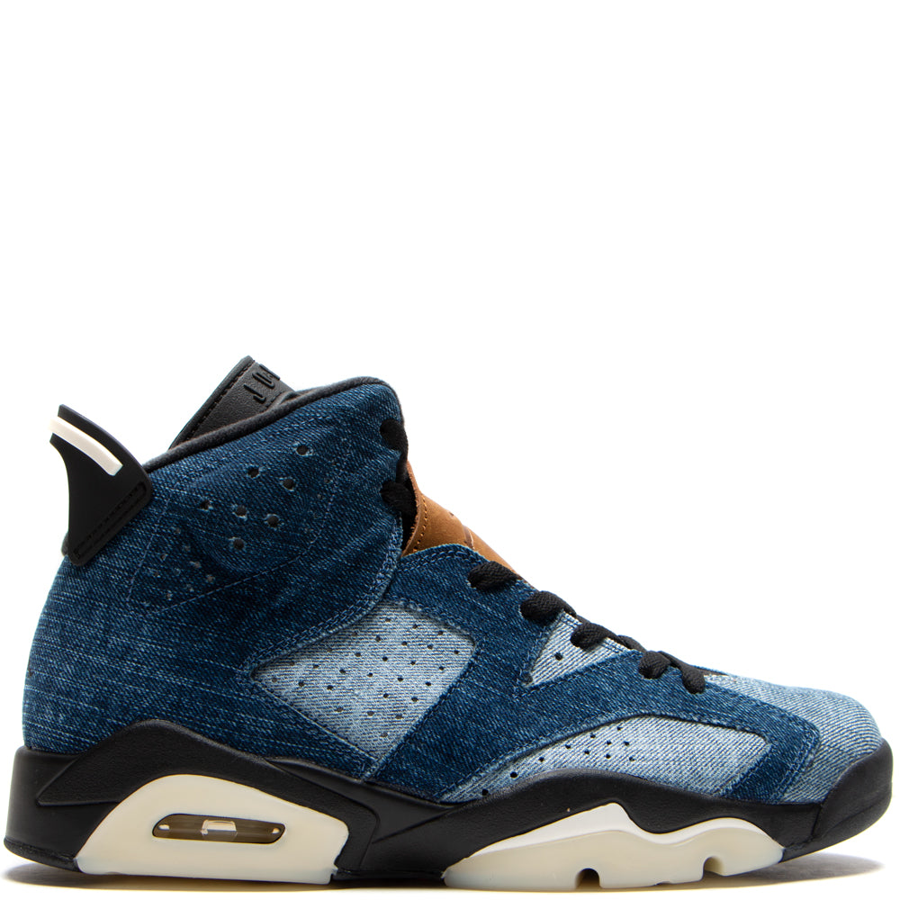 Jordan 6 Retro Washed Denim / Black
