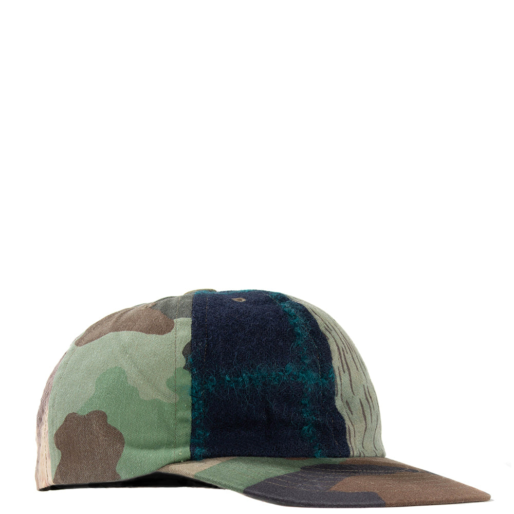 Maharishi Upcycled Patchwork Cap / Olive - Deadstock.ca
