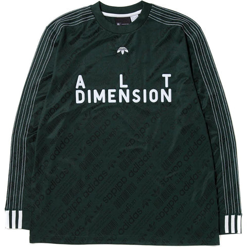 ADIDAS ORIGINALS BY ALEXANDER WANG SOCCER LONG SLEEVE / GREEN NIGHT