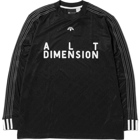 style code CW0505. ADIDAS ORIGINALS BY ALEXANDER WANG SOCCER LONG SLEEVE / BLACK