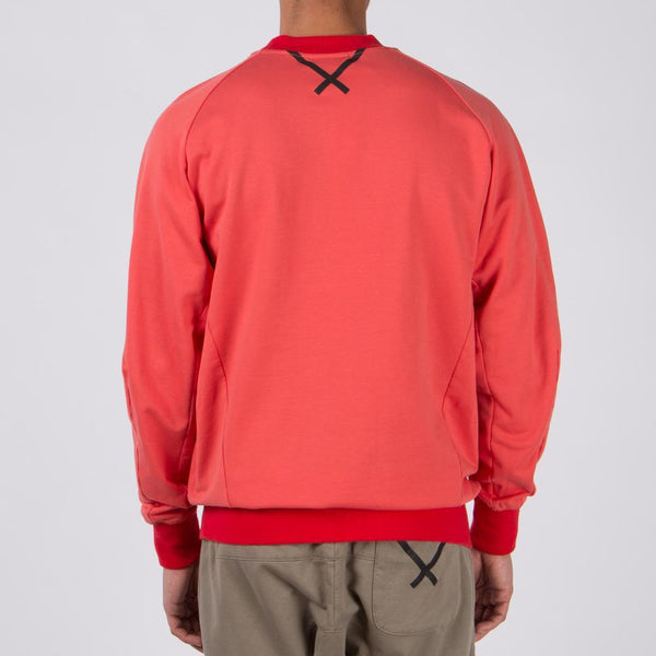 Style code CW0750. ADIDAS BY OYSTER HOLDINGS OYSTER XBYO CREWNECK / TRACE SCARLET