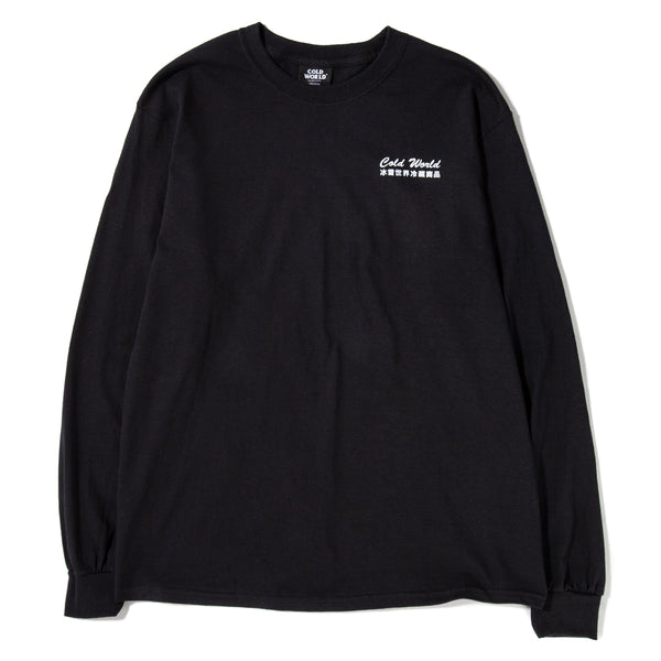 Cold World Frozen Goods Cold Bunny Long Sleeve T-shirt / Black