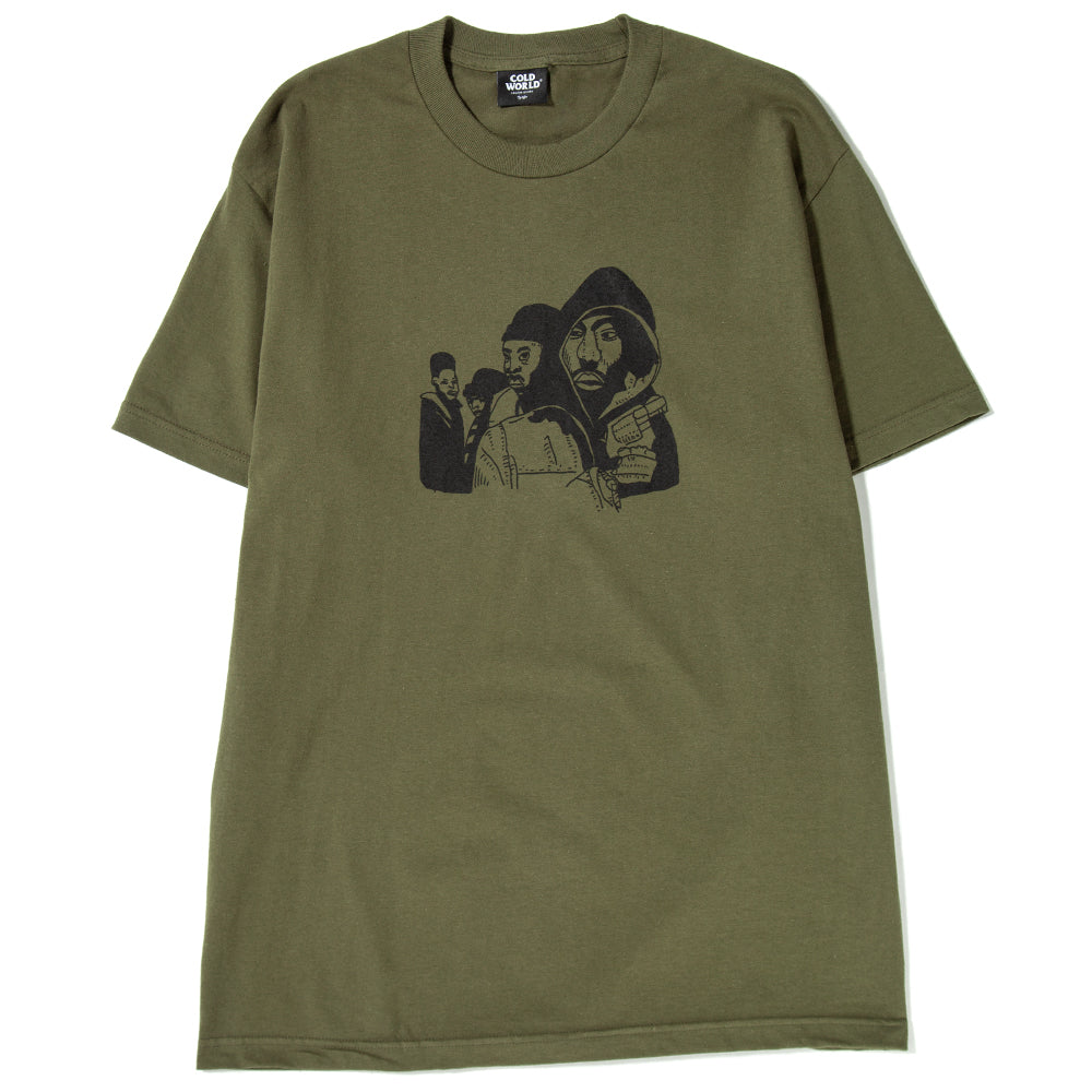 CW1802T06MIL Cold World Frozen Goods Juice T-shirt / Military Green