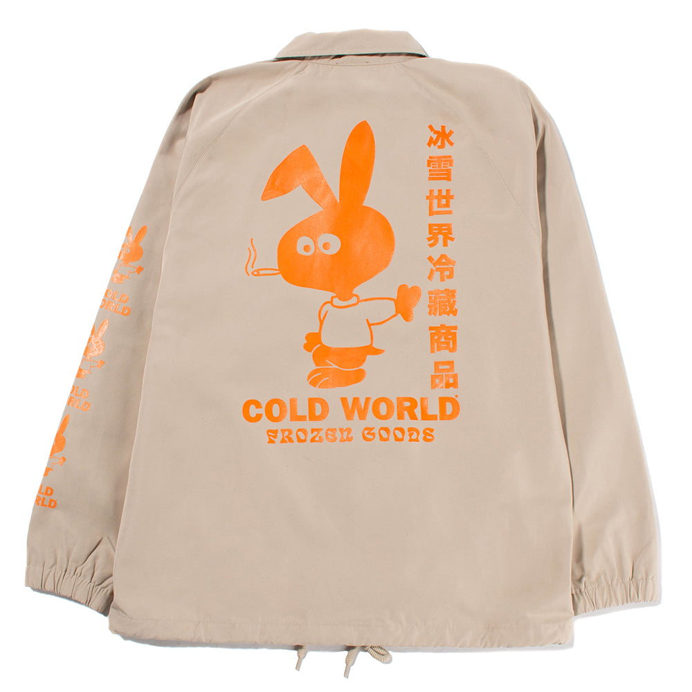 Cold World Frozen Goods Cold Bunny Coach Jacket / Khaki - Deadstock.ca