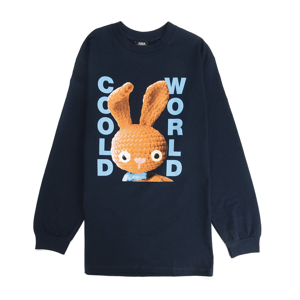 Cold World Frozen Goods Dirty Bunny Long Sleeve T-shirt / Navy
